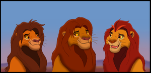 Simba and his sons by Penda321