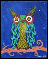 Owl in the Night by KandusJohnson