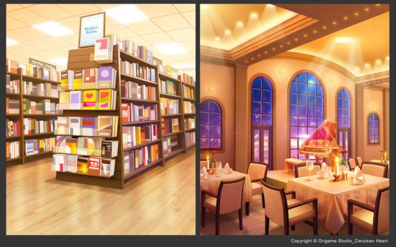 BookStore+Restaurant by CiCiY