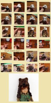 Tutorial Bear hood for Gnome by Juliola