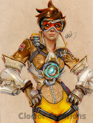 Tracer 'ere! by ItsCloctorArt