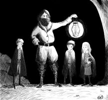 Illustrated Harry Potter and the Sorcerer's Stone |Hagrid And Dumbledore Talking