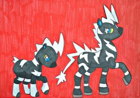 My Little Pony- Zebstrika and Blitzle