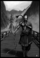 The monk by Thepastart
