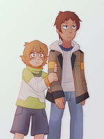 pidge and lance by Azurane