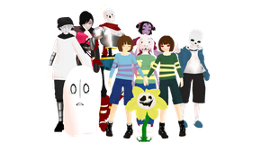 WELCOME TO UNDERTALE! Model DLs Ver 2.0 by Allena-Frost-Walker