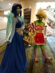 Holiday matsuri 2017 Lapis and peridot by kingofthedededes73