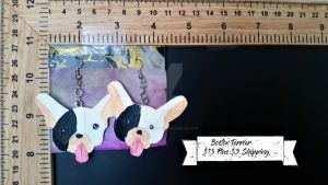 Terrier Earrings by TheTrueGypsyQueen