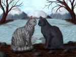 Crowpaw and Feathertail by Alisa222