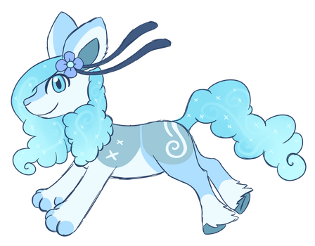Snowy cloudaroo adopt CLOSED by CatbunAdopts