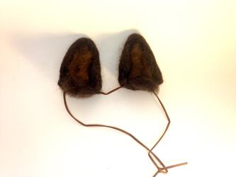 Needle Felt Brown Wolf Ears by RRedolfi