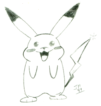 Pikachu Sketch by Snatcher2047