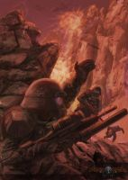2074 - American Soldiers In Canyon by Henskelion