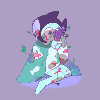wounds n plants by Rensaven