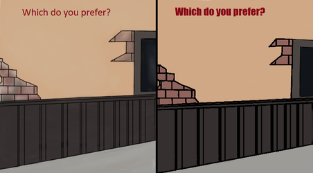 Which do you prefer? -Simple comic background by WimbiTheDreamChaser