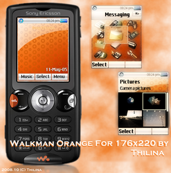Orange v2 for 176x220 SE by ThilinaC