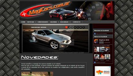 MagiCars Web - Layout by gvdesigns