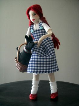 Dorothy Gale and Toto by Rhissanna