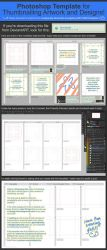 Photoshop Template for Thumbnailing Art + Designs by muddymelly
