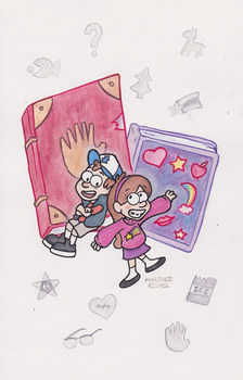 Gravity Falls - Journal and Scrapbook by Lepus-Marj