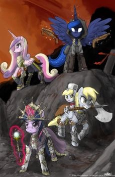Gamer Luna and Diablo 3 by johnjoseco