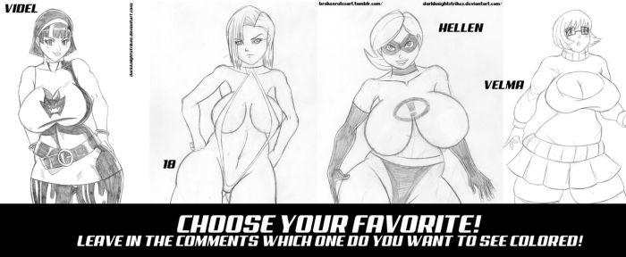 CHOOSE YOUR FAVORITE ROUND 2 by darkknightstrikes