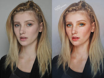 Before and after anne valerie hash retouch by HayleyGuinevere