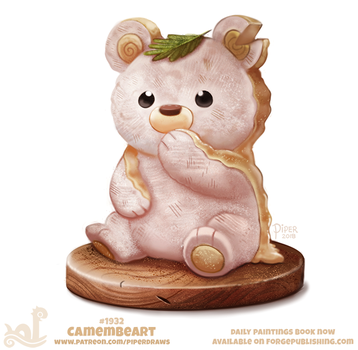 Daily Paint 1932# Camembeart by Cryptid-Creations