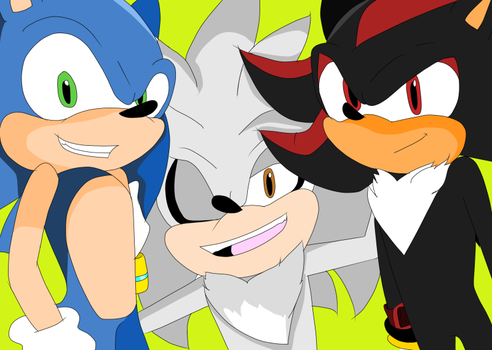 Sonic Shadow And Silver by sonamypaintlover