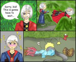 Nero meets Dante on a cliff 2 by ceressiass