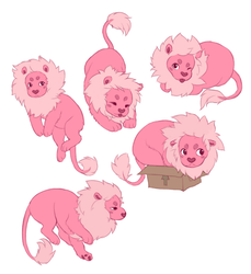 lion stickers by kitfaced