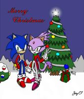 Sonic and Blaze Christmas by Nosolee