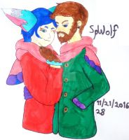 SpellboundMoose: Sharing A Scarf by SpellboundFox