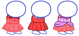 Homestuck Dress Bases by Pastellilapsi