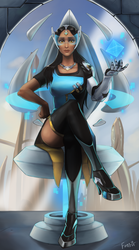 Overwatch Tarot Card - Symmetra (The Empress) by Blackfang9