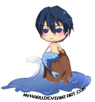 Haru the mermaid XD by nyharu
