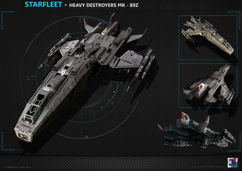 Spaceship - Heavy Destroyer MK89Z by MASCH-ART