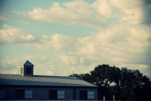 Barn And Clouds by PhillyPuddy