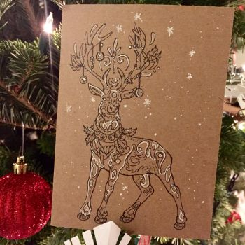 357- Reindeer Card by Lucky978