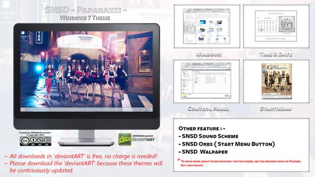 [2013 Theme] SNSD [Paparazzi] Kpop for Windows 7 by HKK98