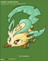Updated Leafeon Journal Skin by AbyssinChaos