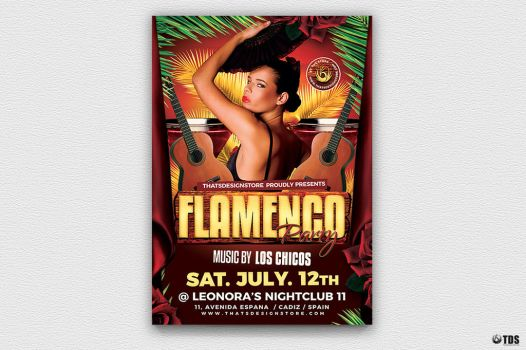 Flamenco Party Flyer Template by Thats-Design