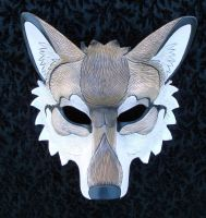 Custom Red Wolf Mask by merimask
