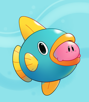 Kirby and Kine (SGDQ) by HappyCrumble
