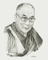 His holiness the Dalai Lama by Lukas1212