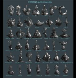 Potions / vials quick concepts by IosifChezan