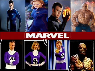 Marvel then and Now 2 fantastic four by Enderules3