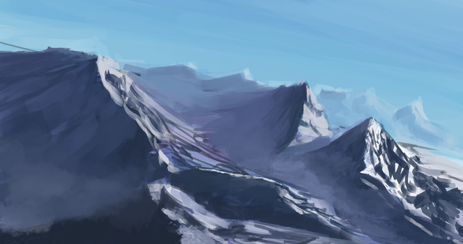 Moutains Study by Schism-Walker