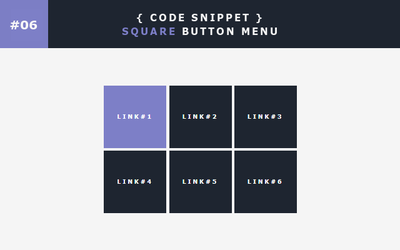 [06] Code Snippet - Square Button Menu by Gasara