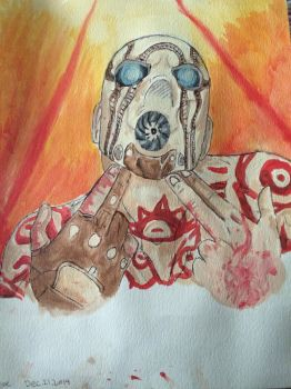 Borderlands watercolour painting by Frostdragon102